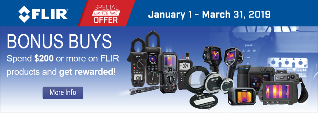 Spend $200 or more on FLIR products and get rewarded!