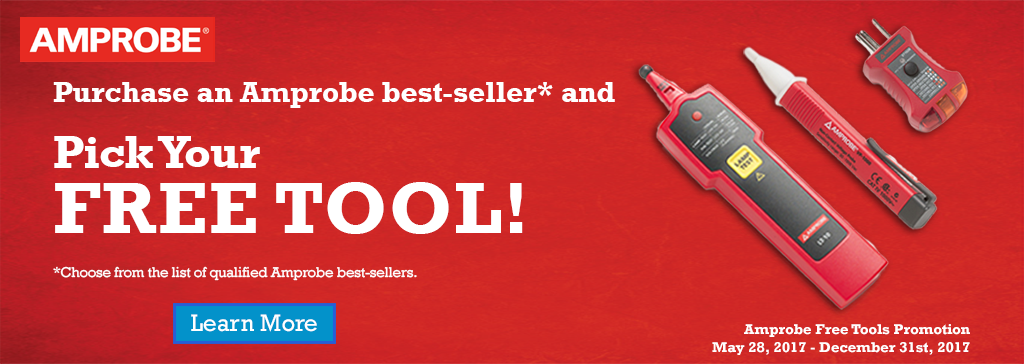 Purchase an Amprobe best-seller and Pick Your FREE TOOL!