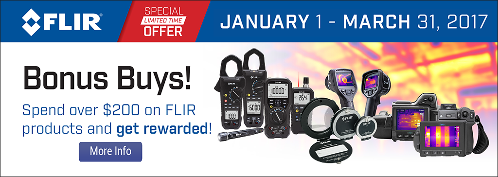 Spend $200 or more on FLIR products and get rewarded with some great gifts!