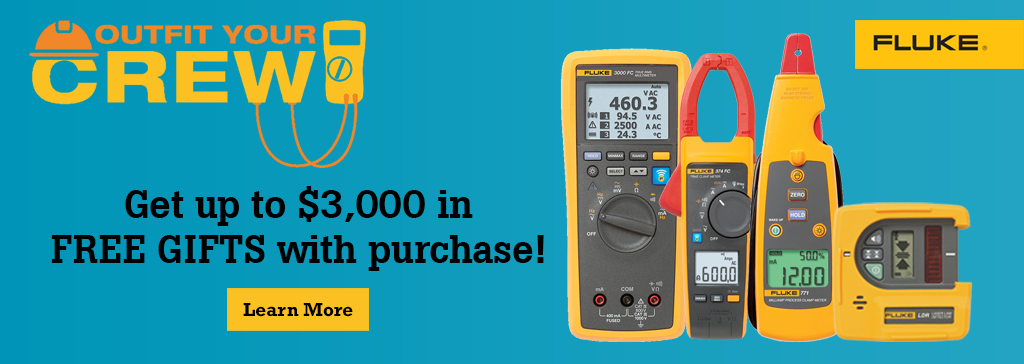 Get up tp $3,000 in FREE GIFTS with your Fluke purchases
