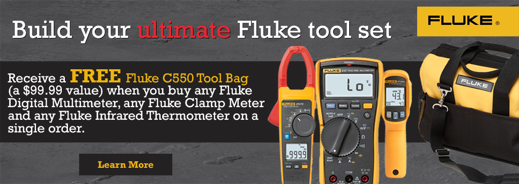 Receive a FREE Fluke C550 Tool bag, with the qualifying purchase of three(3) Fluke Tools!