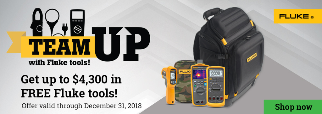 Get up to $4,300 in FREE Fluke tools!